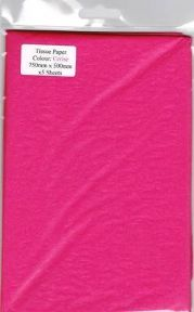 5 x Cerise Tissue Paper, Large Sheets - 750mm X 500mm - SC66